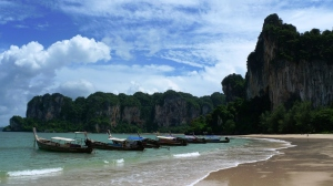 View of Ton Sai, from the beach at West Railay